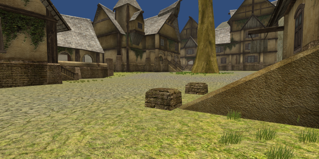 A picture of the large town that we originally had in the game.